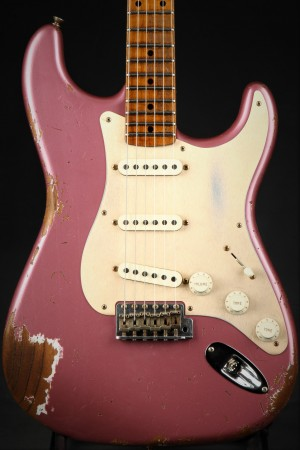 Fender Eddie's Guitars Exclusive Custom Shop 1957 Stratocaster Roasted Ash Heavy Relic - Burgundy Mist