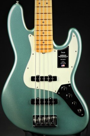 Fender American Professional II Jazz Bass V, Maple Fingerboard - Mystic Surf Green