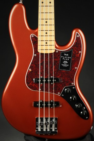 Fender Player Plus Active Jazz Bass®, Maple Fingerboard - Aged Candy Apple Red