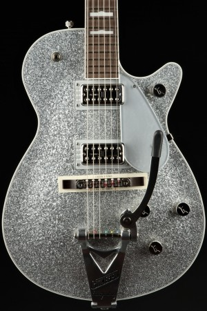 Gretsch G6129T-89 Vintage Select '89 Sparkle Jet With Bigsby, Rosewood Fingerboard, Silver Sparkle