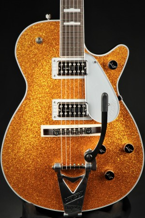 Gretsch G6129T-89 Vintage Select '89 Sparkle Jet With Bigsby, Rosewood Fingerboard, Gold Sparkle