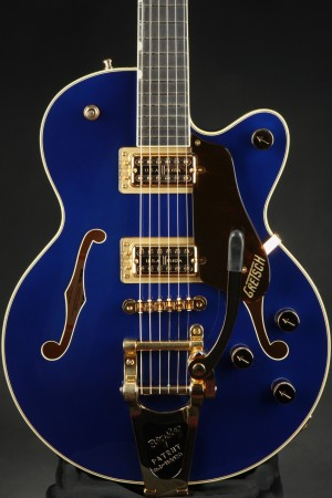 Gretsch G6659TG Players Edition Broadkaster Jr. Center Block Single-Cut with String-Thru Bigsby and Gold Hardware Ebony Fingerboard - Azure Metallic