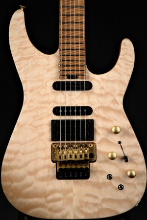Jackson USA Signature Phil Collen PC1 Satin Caramelized Flame Maple Fingerboard - Satin Au Natural