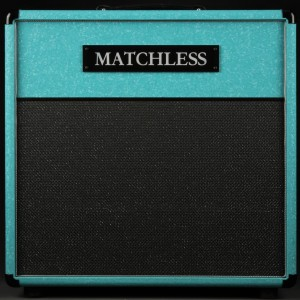 Matchless ESS - 1x12 Cabinet - Shower Curtain Turquoise/Silver